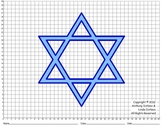 Star of David, Chanukah, Winter, Coordinate Graphing & Drawing, Mystery Picture
