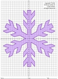 Snowflake, Winter, Coordinate Drawing, Coordinate Graphing