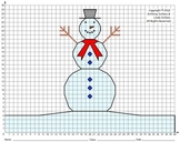 Snowman (Middle School), Winter, Coordinate Drawing & Graphing, Mystery Picture
