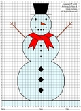 Snowman, No Fractions, Winter, Coordinate Drawing & Graphing, Mystery Picture