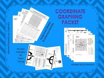 Coordinate Graphing on 4 Quads Foldable Interactive Noteboook Middle School Math