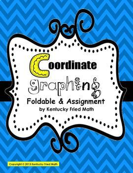 Coordinate Graphing on 4 Quads Foldable Interactive Notebo