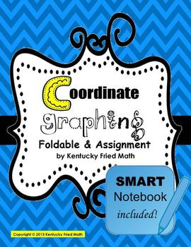 Coordinate Graphing on 4 Quadrants Foldable & SMART Notebook Lesson MS Math