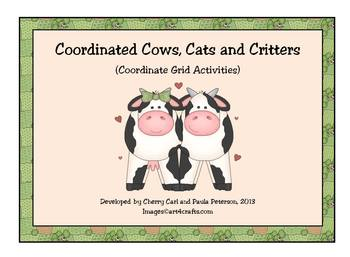 Coordinate Grid Activity Set: Coordinated Cows, Cats and Critters