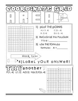 Coordinate Grid Area Doodle Notes