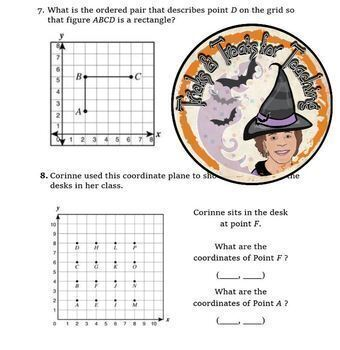 Coordinate Grid Graphing Coordinate Plane Assorted Problems Practice Worksheet