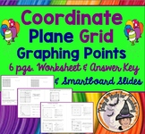 Coordinate Grid Graphing Coordinate Plane Worksheet Answer KEY and Smartboard
