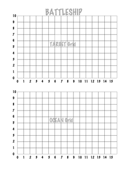 photograph relating to Battleship Game Printable named Coordinate Grid Battleship (1 Quadrant)