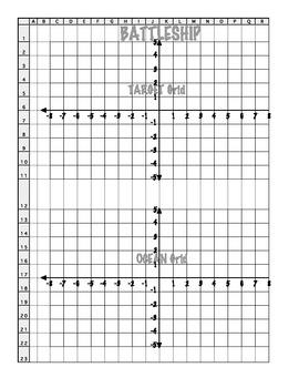 Coordinate Grid Battleship (4 Quadrant)