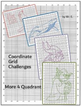 Coordinate Grid Challenges - More 4 Quadrant