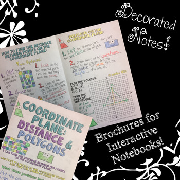 Coordinate Grid: Distance & Polygons - Doodle Note Brochure for Interactive NBs
