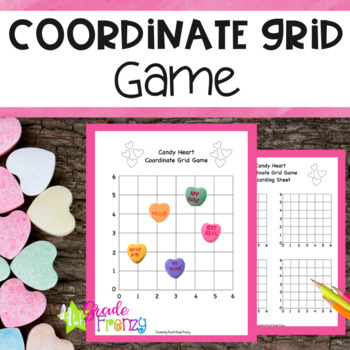 Coordinate Grid Game Candy Hearts