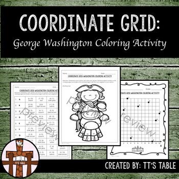 Coordinate Grid George Washington Coloring Activity
