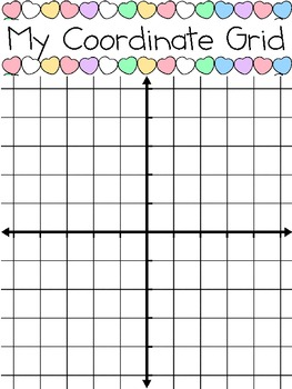 coordinate grid graphing with valentine conversation hearts by smart chick. Black Bedroom Furniture Sets. Home Design Ideas