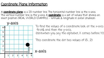 Coordinate Grid Information