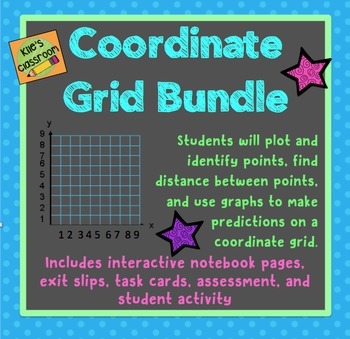 Coordinate Grid Interactive Notebook and Task Card Bundle