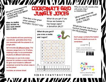 Coordinate Grid Jungle Jokes