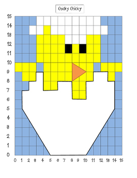 Coordinate Grid Mystery Picture-Chick  Easter