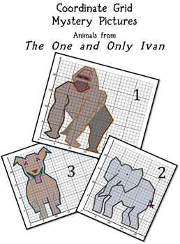 Coordinate Grid Mystery Pictures Common Core Math Animals One and Only Ivan