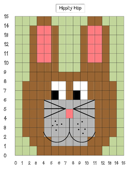 Coordinate Grid Mystery Pictures-Easter Bundle