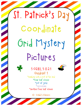Coordinate Grid Mystery Pictures-St. Patrick's Day Bundle