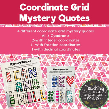 Coordinate Plane Mystery Quotes