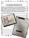 Coordinate Grid Name Art Project