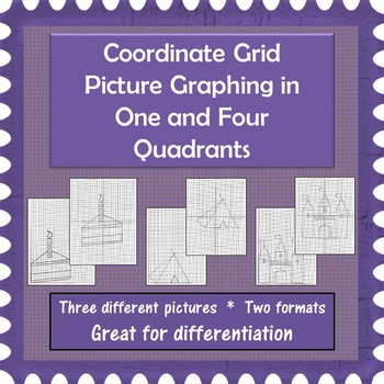 Coordinate Grid Pictures in One and Four Quadrants