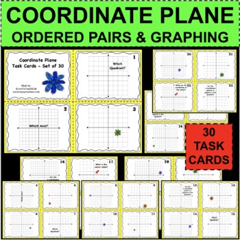 Coordinate Grid Plane Task Cards Coordinates Graphing Quadrants