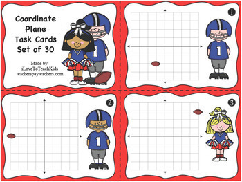 Coordinate Grid Plane Task Cards x-coordinate y-coordinate Ordered Pairs
