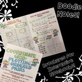 Coordinate Grid: Plotting & Quadrants - Decorated Note Brochure for INB