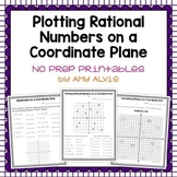 Plotting Rational Numbers on a Coordinate Plane - NO PREP Printables