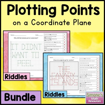 Coordinate Grid Riddles Bundle (First Quadrant and Four Quadrant)