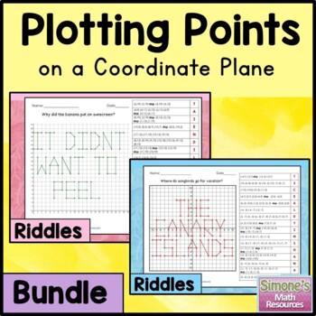 Coordinate Grid Riddles Bundle (First Quadrant and Four Quadrant)