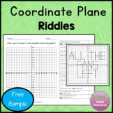 Coordinate Grid Riddles  Free Sample