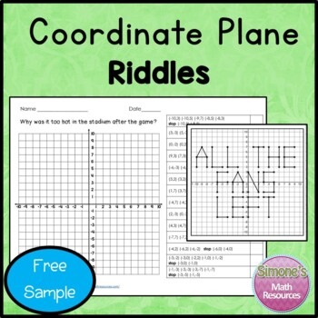 Coordinate Grid Riddles  Free Sample