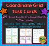 Coordinate Grid Task Cards-Plotting Points, Distance on a  Grid and More!