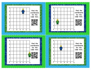 Coordinate Grid Task Cards - With QR Codes