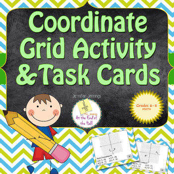 Coordinate Grid Task Cards and Activity