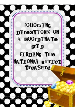Coordinate Grid Treasure Map:  The National Buried Treasure Activities