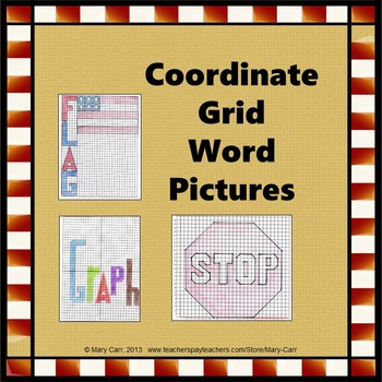 Coordinate Grid Word Pictures