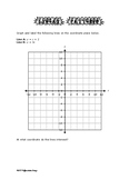 Coordinate Grid and Linear Patterns
