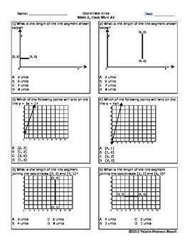 Coordinate Grids Class Work