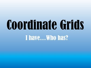 Coordinate Grids I have...Who has?