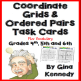 Coordinate Grids Task Cards and Coordinate Planes, Challenging Math!