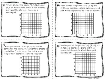 Coordinate Grids Task Cards
