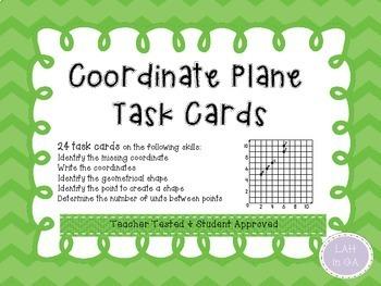 Coordinate Grids Task Cards