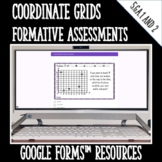Coordinate Grids Formative Assessments for Google Forms Di