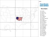 Latitude and Longitude Game:  United States Bingo