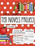 Ten Novels Project - Middle School Novel Study, Book Repor